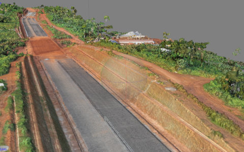 Autoroute de Nsimalen, nuage de points