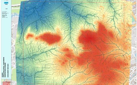 Carte d'écoulement des eaux