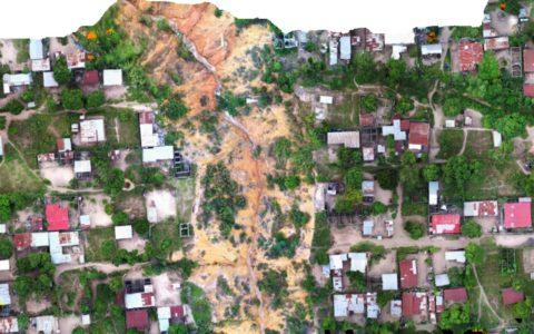 Brazzaville, érosion et ravinement